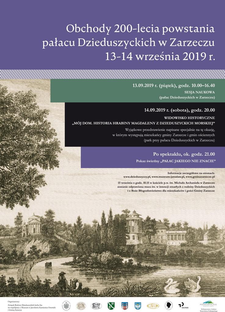 Pałac w Dzieduszyckich w Zarzeczu świętuje 200. urodziny